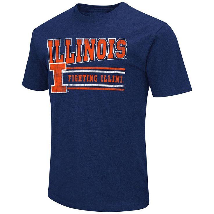 Men's Campus Heritage Illinois Fighting Illini Vintage Tee, Size: Medium, Med Orange