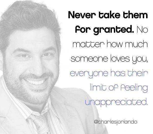 Never Take Them For Granted...