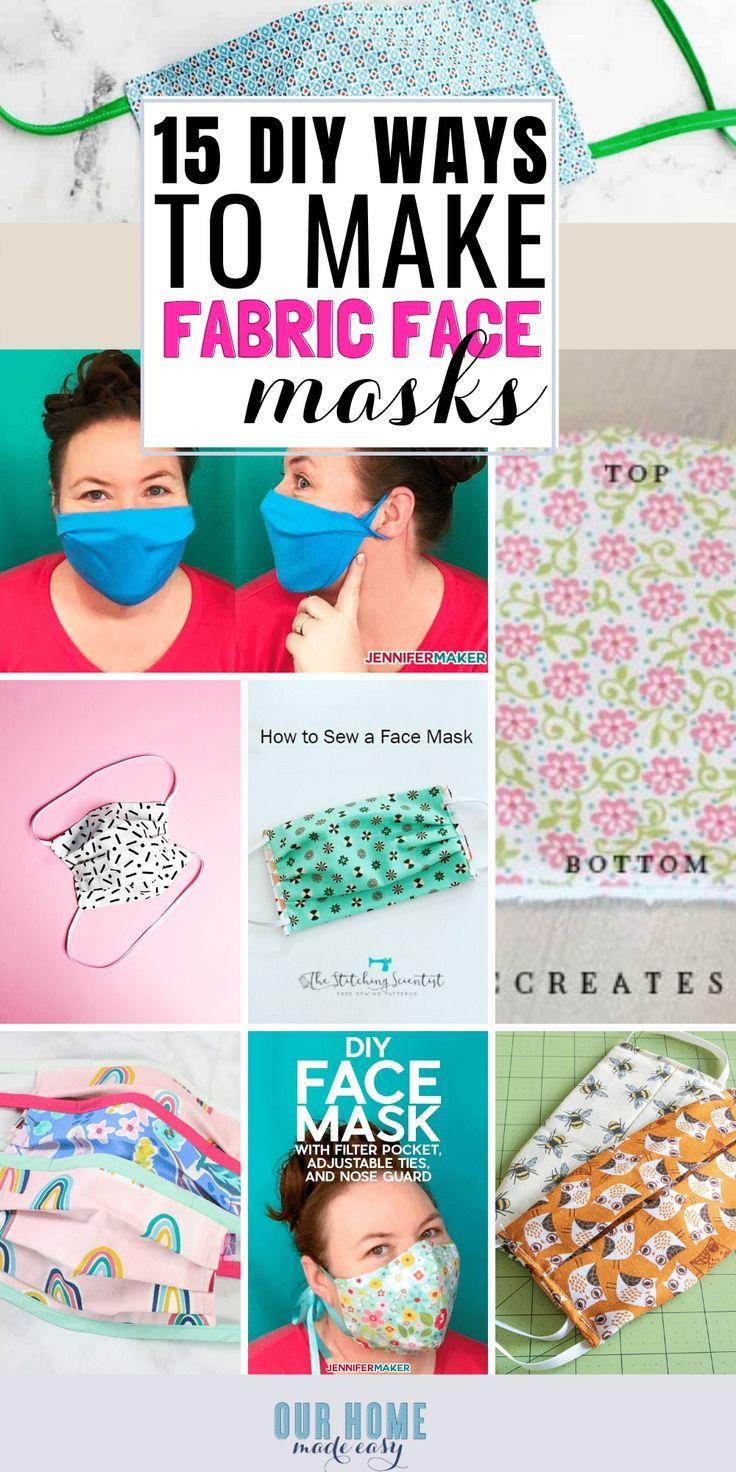 15 Easy To Make Fabric Face Masks In 2020 Face Masks For Kids Diy Face Mask Diy Mask