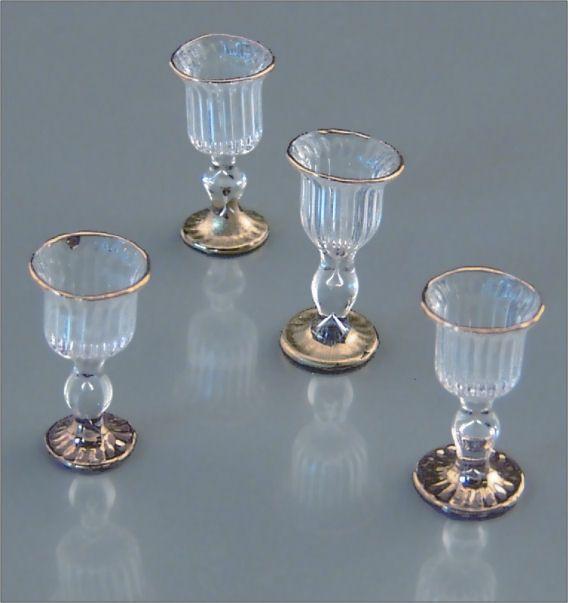 Victorian Wine Glasses - miniature 1:12 scale