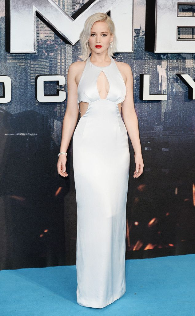 Jennifer Lawrence from The Best of the Red Carpet  The X-Men actress looks every inch the Hollywood star in this cloud-white satin gown.
