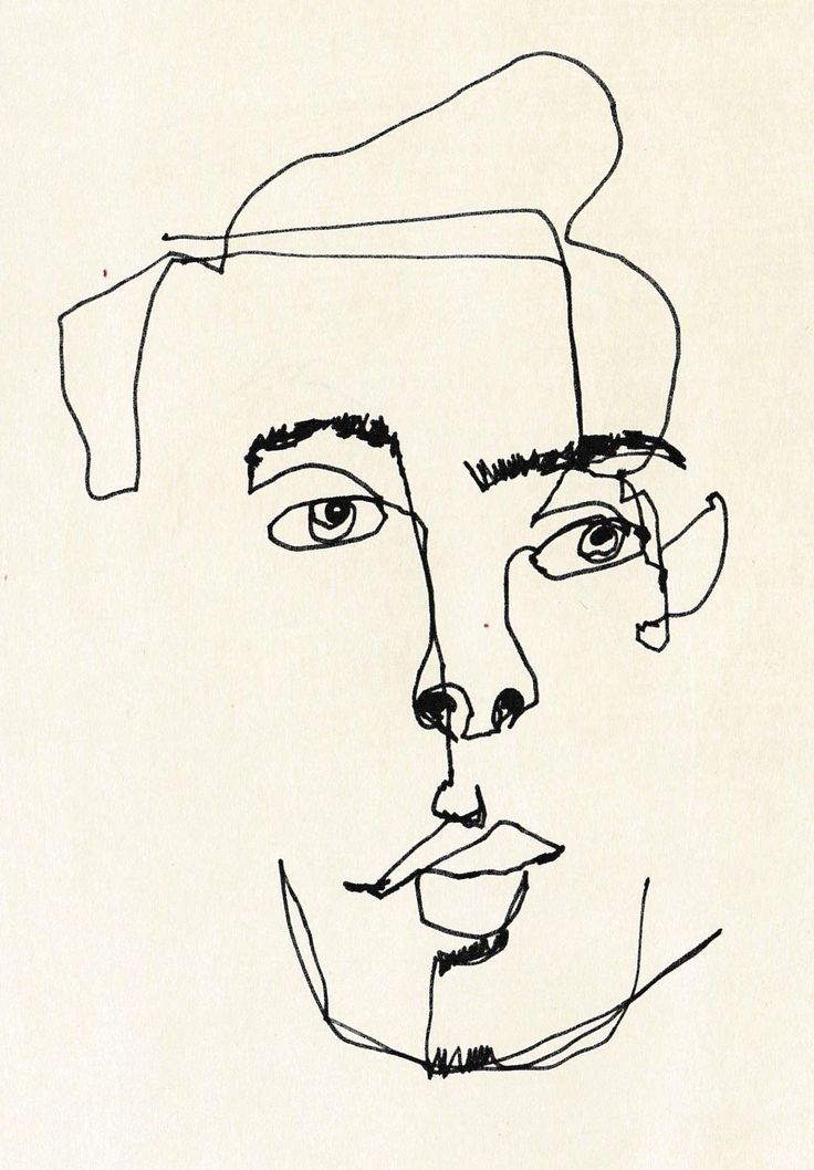 February James - Blind Contour Line Drawing                                                                                                                                                                                 More