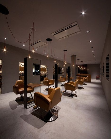 Salon interior design hair salon pinterest metals for Interieur design salon