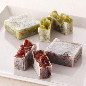 Japanese Sweets, <石川>中田屋の代表銘菓「きんつば」と「きんつば うぐいす」。【花かさね】
