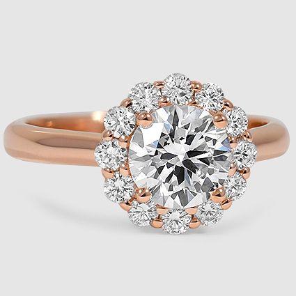 14K Rose Gold Lotus Flower Diamond Ring (1/3 ct. tw.)
