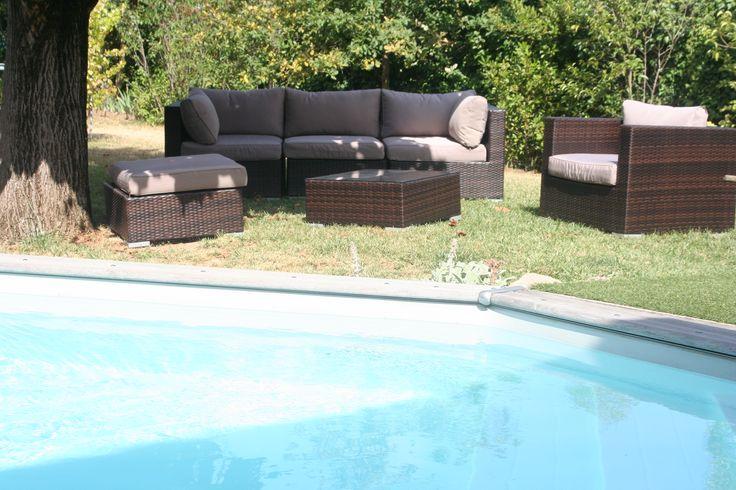 Best 25 salon de jardin aluminium ideas only on pinterest veranda aluminiu - Mobilier jardin resine tressee ...