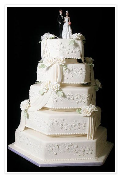 Bolo de Casamento com 5 andares