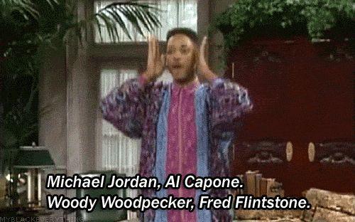 Michael Jordan, Al Capone, Woody Woodpecker, Fred Flinstone