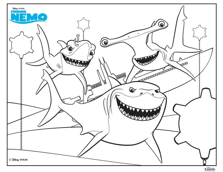 25 best ideas about finding nemo coloring pages on