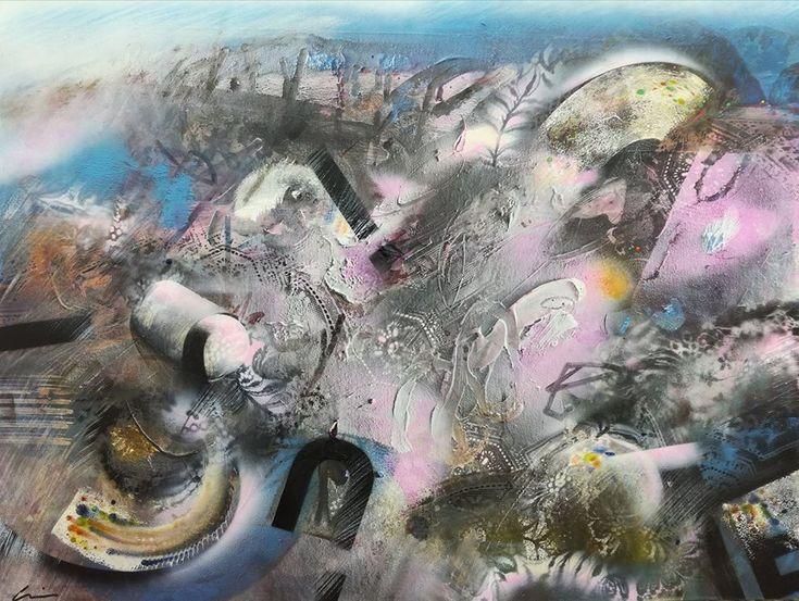 Mixed media on canvas 70x80 cm / Pelince (MK) 2017.