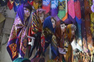 Woman in Iran: Woman in Iran: Colourful Hijabs at the bazaar