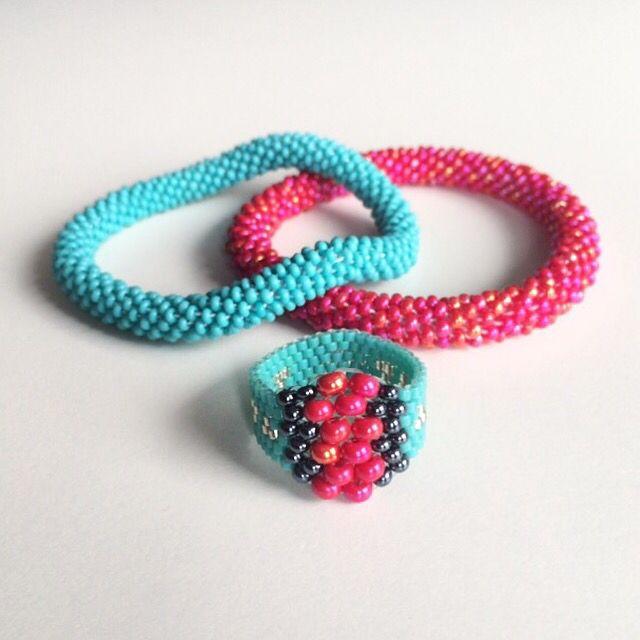 Crochet rope, peyote ring