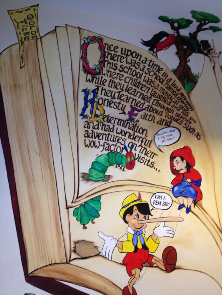 The living story book, over 50 book characters leaping from the book itself