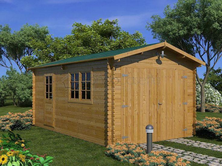 Questo garage è realizzato in legno naturale di abete nordico ed ha pareti dallo spessore di 44 mm; questa struttura in legno, ideale per la sistemazione della propria auto o per la realizzazione di un magazzino, mette a disposizione un'ampia superficie d