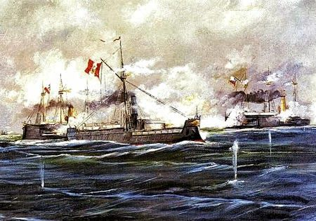 War of the Pacific (1877 - 1883), between Peru, Chile, and Bolivia
