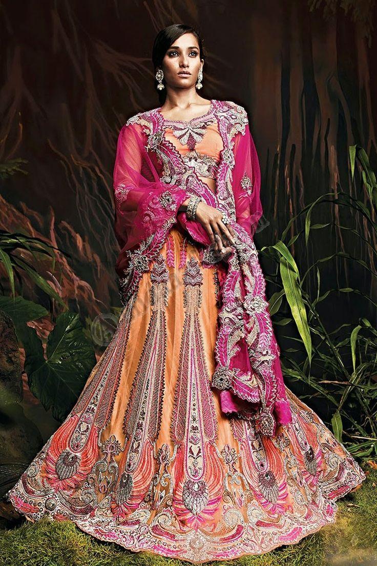 Orange Net Lehenga and Net Pink Dupatta Design No- DMV7260 Price- 405.00 Dress Type:Lehenga Fabric:Net Colour:             Orange Embellishments: Embroidered,Resham,Stone,Zari For More Information- http://www.andaazfashion.co.uk/womens/lehenga-choli/occasion/bridal-wear-lehenga-choli/orange-net-lehenga-and-net-pink-dupatta-dmv7260.html