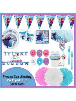 Frozen İce Skating Full Parti Seti (24 Kişilik)