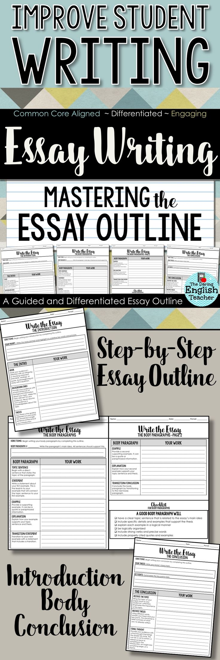 best assignment writing service ideas writing  guide students step by step through the essay writing process this guided essay outline this outline is ideal for high school english and middle