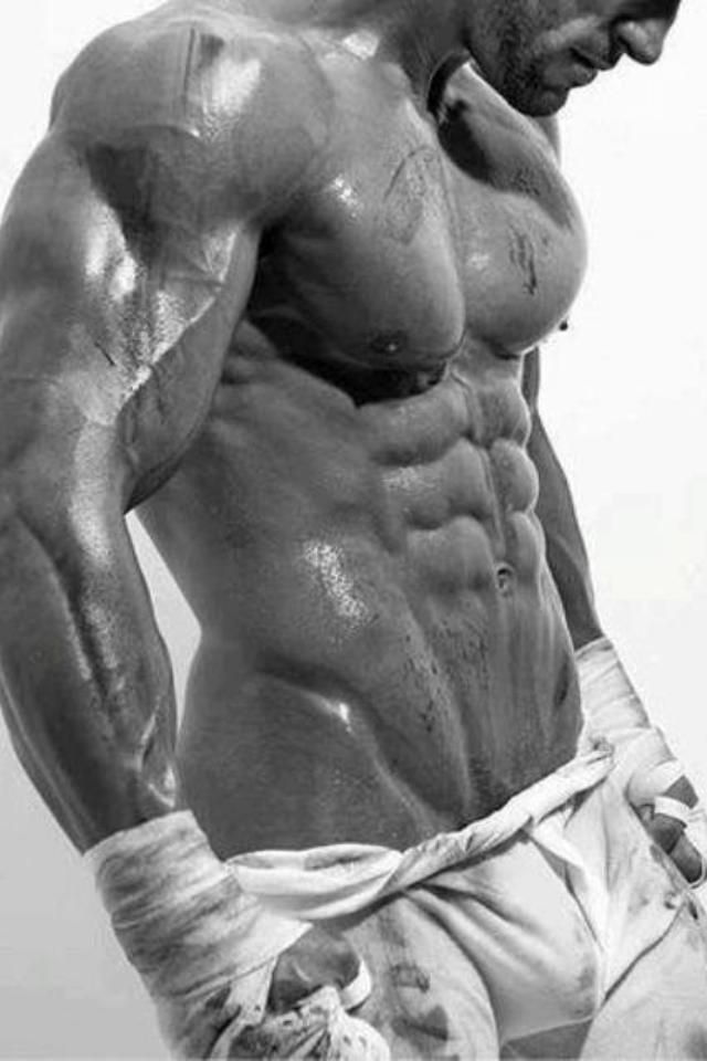 Muscular male body. Bodybuilding and weight training ftw, work out season has arrived!