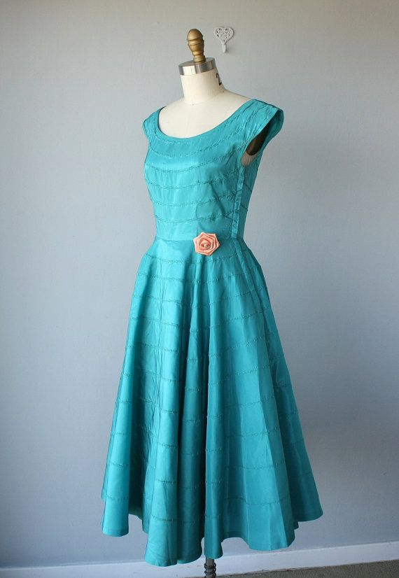 Vintage 1950s Party Dress 50s Cocktail by CustardHeartVintage