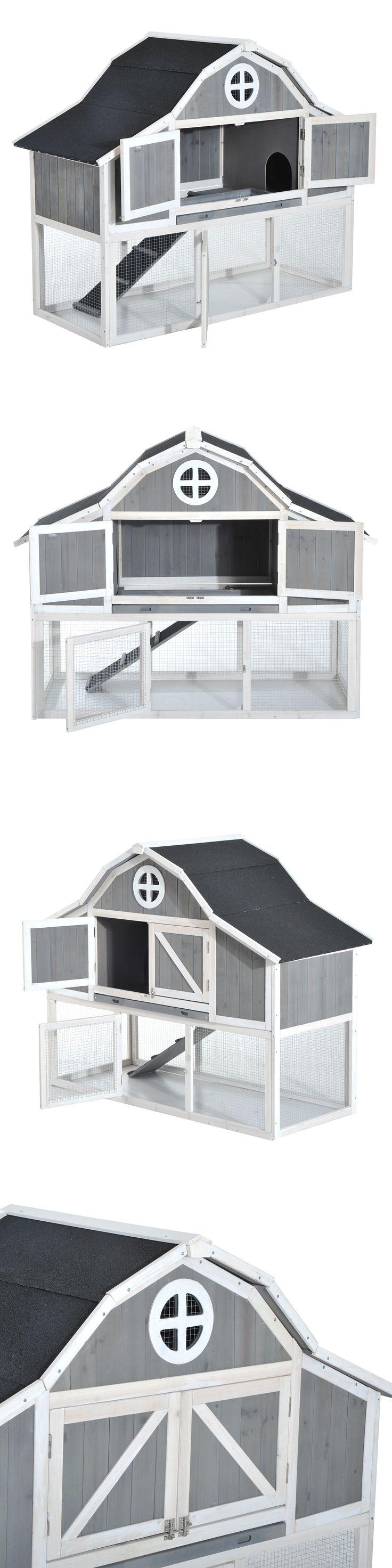 backyard poultry supplies 177801 pawhut 59 wooden chicken coop