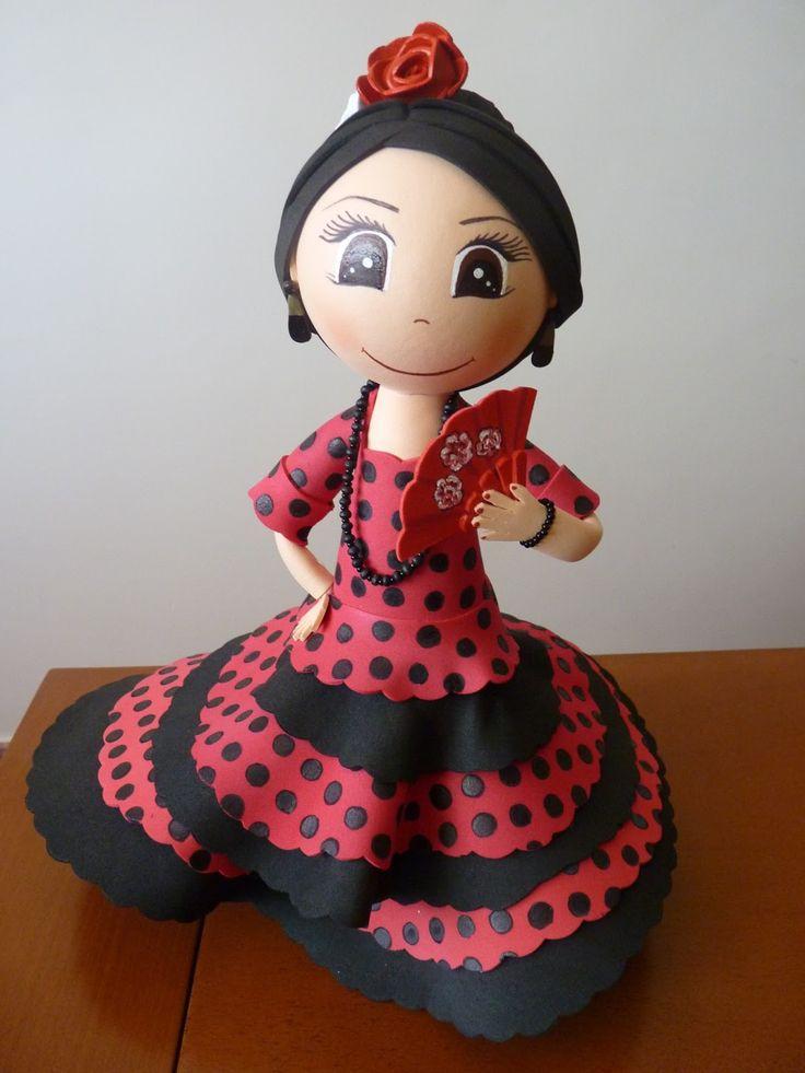 ManualidadesAB: Fofucha flamenca
