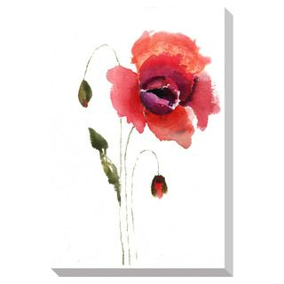 Red Poppy Watercolor Oversized Gallery Wrapped Canvas | Overstock.com Shopping - The Best Deals on Canvas