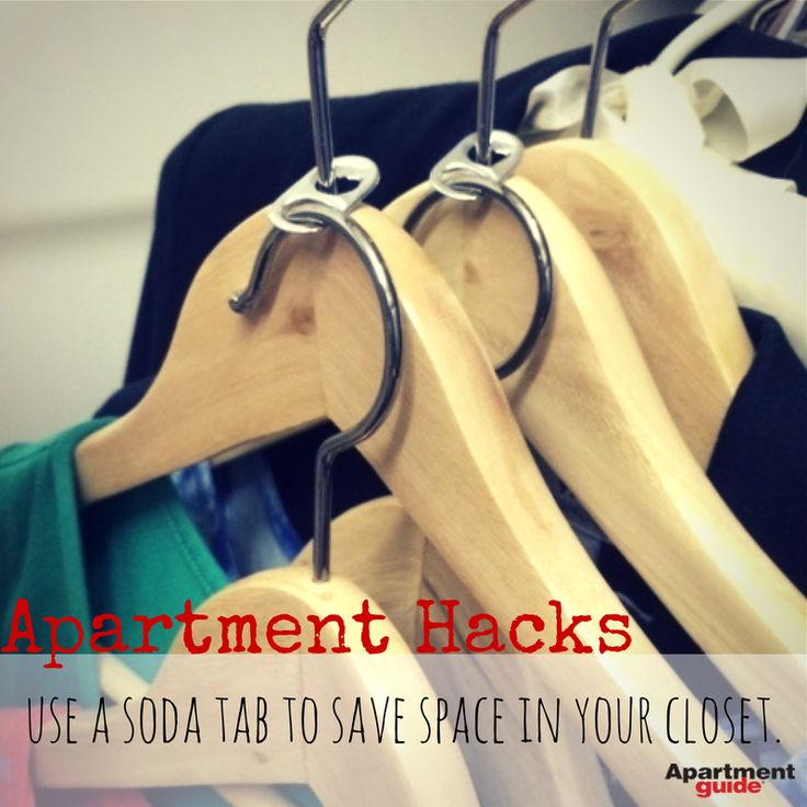 Do you have a cramped #closet? Save all the tabs from your soda cans and place…