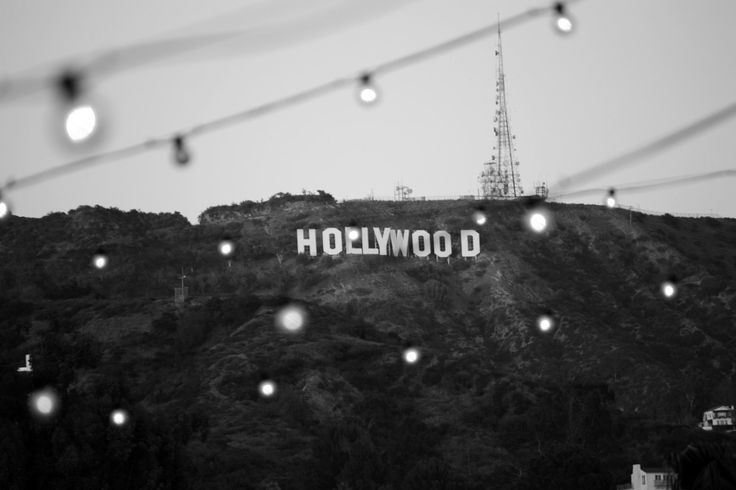 """Hollywood Sign, Black and white photograph, 16x20"""". $40.00, via Etsy."""