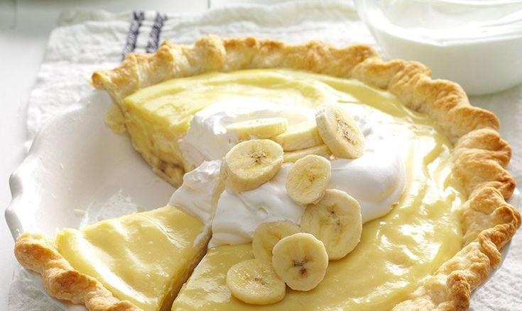 Deze heerlijke, romige bananentaart maak je in een handomdraai. Je wilt nooit meer anders!