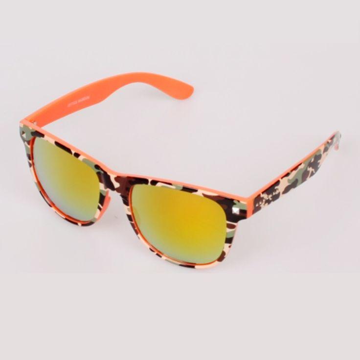 OPTICS MUSEUM Camouflage Glasses Men Women Mirror Sunglasses Square Frame UV400 #OPTICSMUSEUM #Square