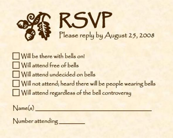 to do throw party for sole purpose of using these rsvp