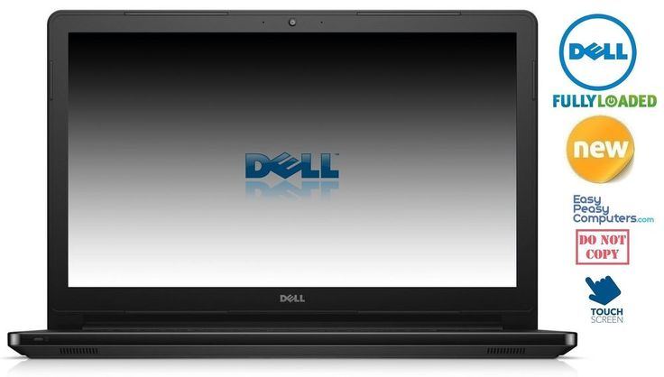 NEW DELL Laptop Touchscreen Black Windows 10 WiFi Webcam HDMI (FULLY LOADED) #Dell #laptops #laptop