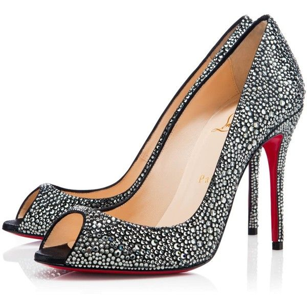 Christian Louboutin Sexy Strass ($3,295) ❤ liked on Polyvore featuring shoes, pumps, heels, christian louboutin, louboutin, black diamond, christian louboutin shoes, high heels stilettos, sexy pumps and stiletto pumps