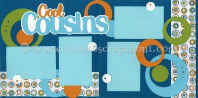 Cool Cousins Scrapbook Page Kit [coolcousins12] - $6.99 :: Lotts To Scrap About - Your Online Source for Scrapbook Page Kits!