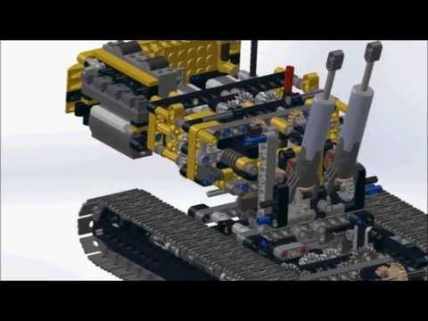 A Solidworks Assembly Animation of Lego Technic Motorized Excavator 8043