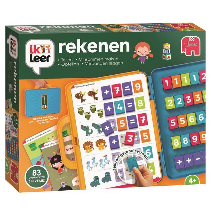 Met 'ik leer rekenen' leren kinderen spelenderwijs tellen, optellen en minsommen maken. Alle sommen zijn zorgvuldig gekozen en sluiten aan bij de lesstof van een kind van 4 jaar. Het speciale cijfersysteem zorgt ervoor dat kinderen zelfstandig kunnen oefenen. Door de kleur en de speciale achterkant van de blokjes past het alleen op de juiste plek. 'Ik leer rekenen' bevat 15 kaarten met 83 opdrachten op 6 verschillende niveaus: tellen, optellen, minsommen maken, cijfers herkennen, cijfers…