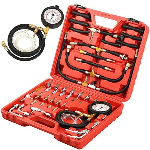 PMD Products Manometer Fuel Injection Pressure Tester Gauge Kit system w/ Shrader Value fittings 0-140 psi. For product info go to:  https://www.caraccessoriesonlinemarket.com/pmd-products-manometer-fuel-injection-pressure-tester-gauge-kit-system-w-shrader-value-fittings-0-140-psi/