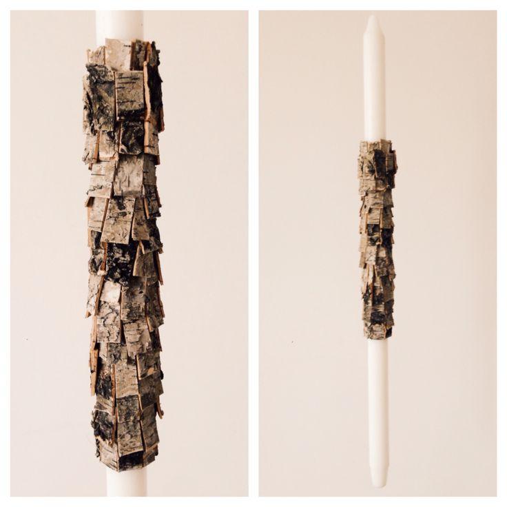 Tree bark bridal candle by NO NO NO