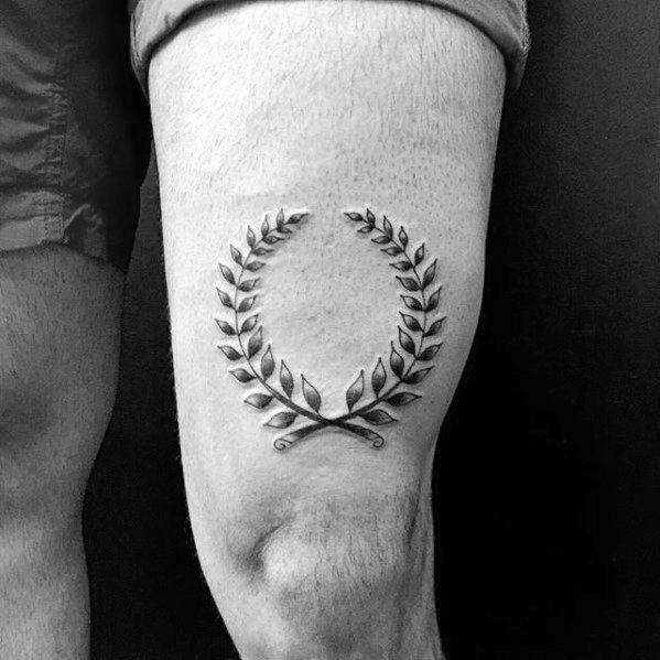 60 Lorbeerkranz Tattoo Designs für Männer – Branch Ink Ideen