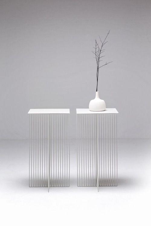 thedesignwalker:  Square steel coffee #table ACCURSIO by La Cividina | #design Antonino Sciortino #white