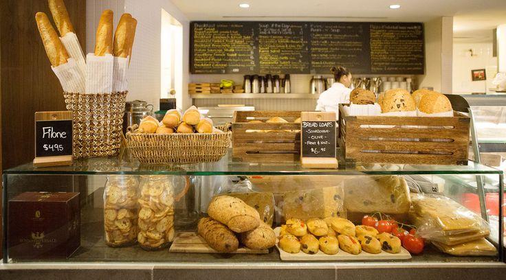 Bread baked fresh daily.