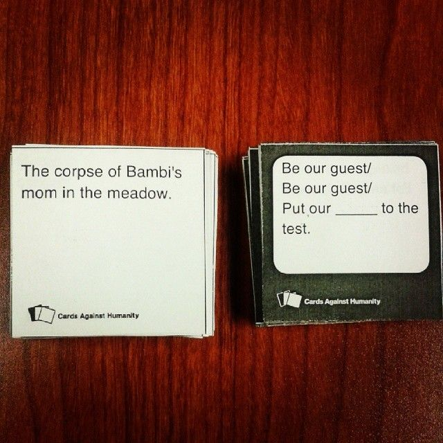 Disney pack for cards against humanity