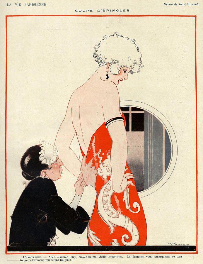 La Vie Parisienne, 1924 Art by Rene Vincent