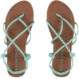 Crossing Over Sandals | Billabong US these shoes have me living in the mo-mint <3 crossover sandals for dayz