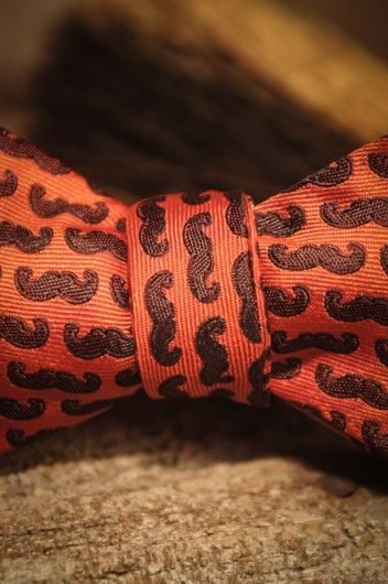 Bow Tie Moustache Mustache Red - by Buffalo Jackson Trading Co - for the Rugged Gentleman