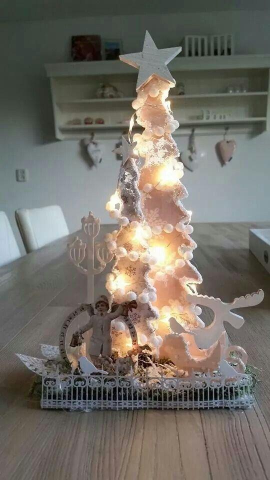 Dutch Doobadoo mdf kerstbomen