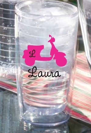 Personalized Tumbler- Scooter 26oz. $19.00, via Etsy.