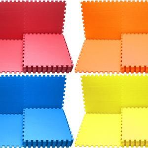 Puzzle Evamat 30 cm x 30 cm Polos Warna (Biru, Kuning, Mearh, Orange, Hijau, Pink)