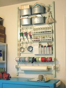 Love this whole post about repurposing unsafe crib parts!  I'm particularly in love with this crafting rack!  It is definitely going to happen in this home!